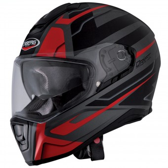 Casque Integral Caberg Drift Shadow Matt Gunmetal Red