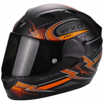 Casque Integral Scorpion EXO 1200 Air Fulgur Matt Black Orange