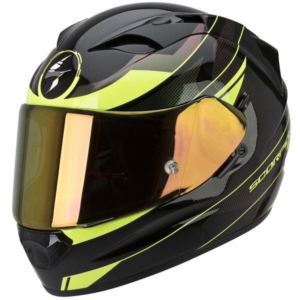 Casque Integral Scorpion Exo 1200 Air Fulmen Black Neon Fluo