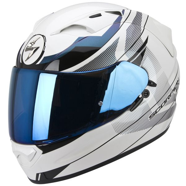 Casque Integral Scorpion Exo 1200 Air Fulmen White Chameleon Silver