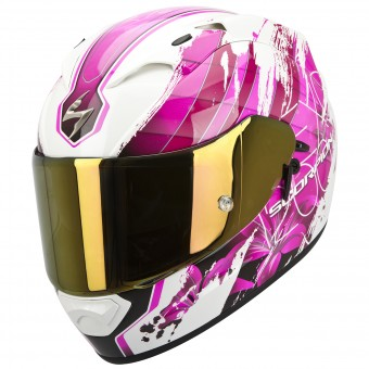 Casque Integral Scorpion EXO 1200 Air Lilium Blanc Rose