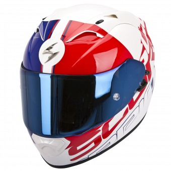 Casque Integral Scorpion EXO 1200 Air Quarterback Rouge Bleu
