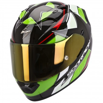 Casque Integral Scorpion EXO 1200 Air Stella Vert Rouge