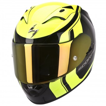Casque Integral Scorpion EXO 1200 Air Stream Tour Noir Jaune Fluo