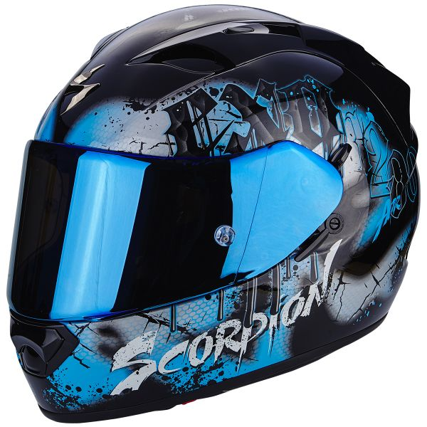 Casque Integral Scorpion EXO 1200 Air Tenebris Black Sky Blue