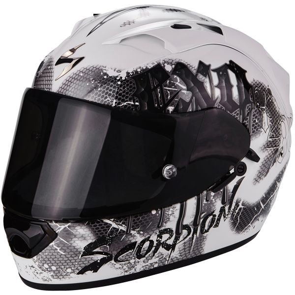 Casque Integral Scorpion EXO 1200 Air Tenebris White Silver