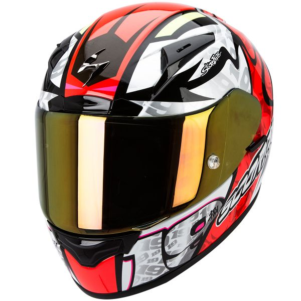 Casque Integral Scorpion EXO 2000 Evo Air Bautista Neon Red