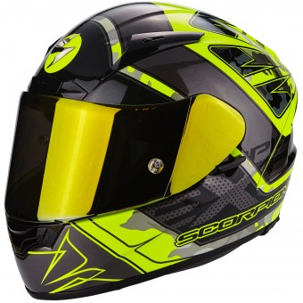 Casque Integral Scorpion EXO 2000 Evo Air Brutus Neon Yellow Silver