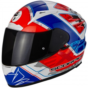 Casque Integral Scorpion EXO 2000 Evo Air Brutus White Neon Red Blue