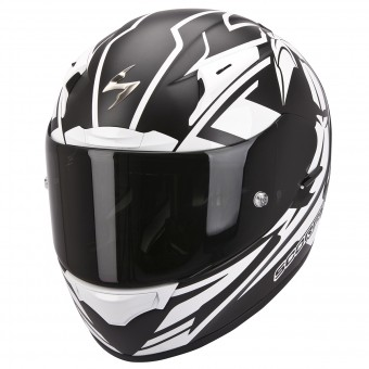 Casque Integral Scorpion EXO 2000 Evo Air Track Noir Blanc Mat