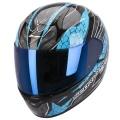 Casque moto Scorpion EXO 410 Air Rad Noir Bleu