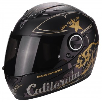 Casque Integral Scorpion Exo 490 Golden State Black Gold