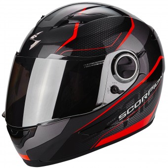 Casque Integral Scorpion Exo 490 Vision Black Neon Red
