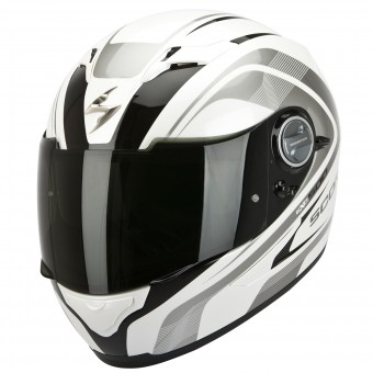 Casque Integral Scorpion EXO 500 Air Focus Blanc Noir