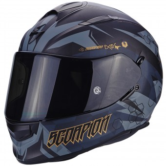 Casque Integral Scorpion Exo 510 Air Cipher Matt Black Gold