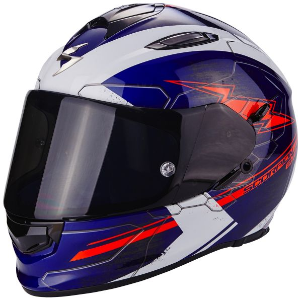 Casque Integral Scorpion Exo 510 Air Cross Blue White Neon Red