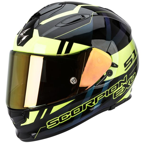 Casque Integral Scorpion Exo 510 Air Stage Black Neon Yellow