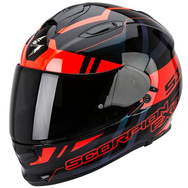 Casque Integral Scorpion Exo 510 Air Stage Black Red