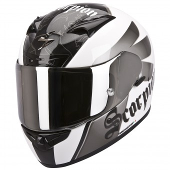 Casque Integral Scorpion EXO 710 Air Knight Blanc Argent
