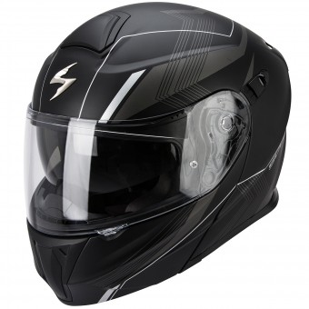 Casque Modulable Scorpion Exo 920 Gem Matt Black Silver