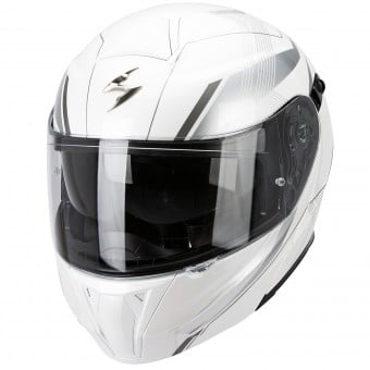Casque Modulable Scorpion Exo 920 Gem Pearl White Silver