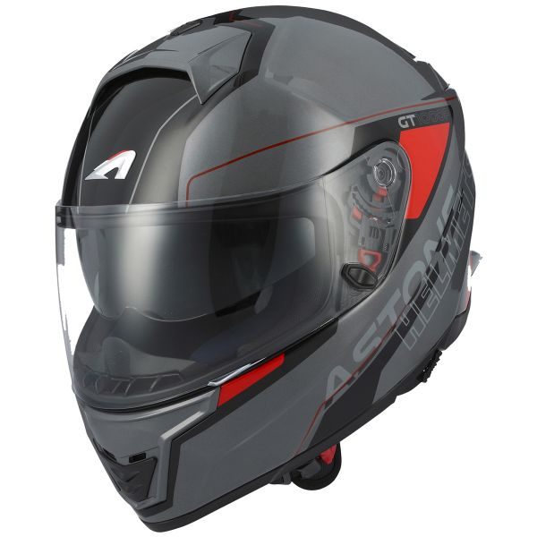 Casque Integral Astone GT 1000F Gamatron Red Grey
