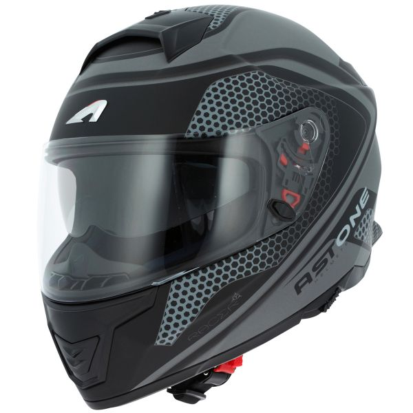 Casque Integral Astone GT 1000F Hexa Matt Dark Grey