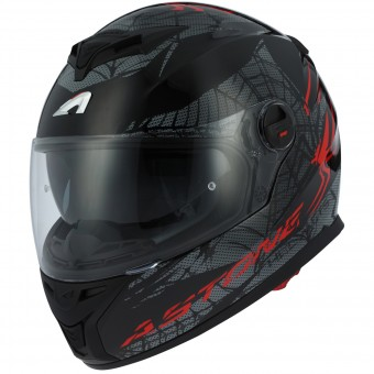 Casque Integral Astone GT 800 Spider Red Black