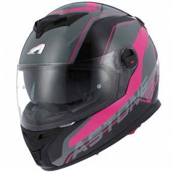 Casque Integral Astone GT 800 Wire Black Pink