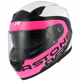 Casque Integral Astone GT 900 Apollo Pink White