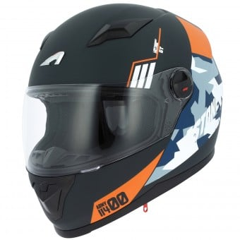 Casque Integral Astone GT2 Matt Army Black Orange