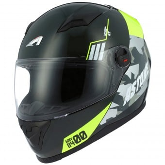 Casque Integral Astone GT2 Matt Army Black Yellow