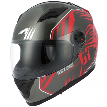 Casque Integral Astone GT2 Predator Black Red