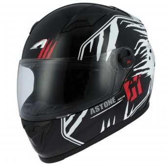 Casque Integral Astone GT2 Predator Black White
