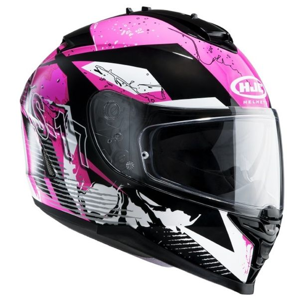 Casque Integral HJC IS17 Pink Rocket MC8