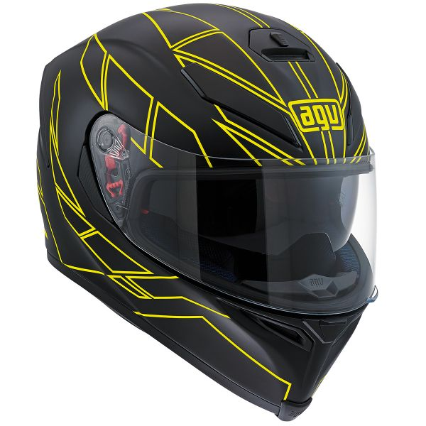 Casque Integral AGV K-5 Hero Black Yellow Fluo