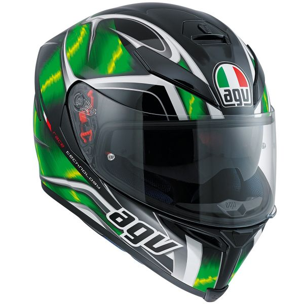 Casque Integral AGV K-5 S Hurricane Black Green