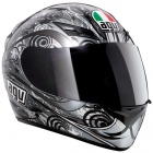 Casque Integral AGV K3 Asymmetry Gunmetal Silver