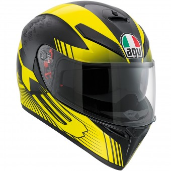 Casque Integral AGV K3 SV Glimpse Black Yellow