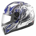 Casque moto MDS M13 Brush White Blue