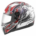Casque moto MDS M13 Brush White Red