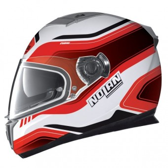 Casque Integral Nolan N86 Deep White Red 18