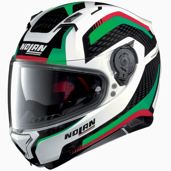 Casque Integral Nolan N87 Arkad N-Com White Red Green 41