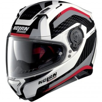 Casque Integral Nolan N87 Arkad N-Com White Red Grey 43
