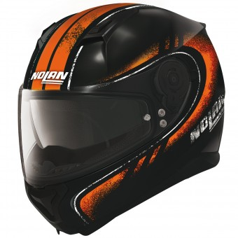 Casque Integral Nolan N87 Fulgor N-Com Black Orange 23