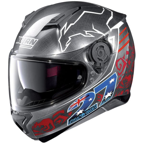 Casque Integral Nolan N87 Iconic Replica N-Com C. Stoner Chrome 35