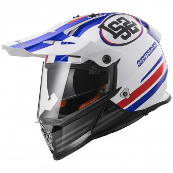 Casque Integral LS2 Pioneer Quarterback White Red Blue MX436