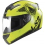 Casque Integral LS2 Rookie Fan Hi-Vis Yellow FF352