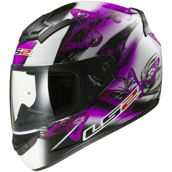 Casque Integral LS2 Rookie Flutter White Purple FF352