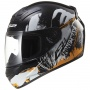 Casque Integral LS2 Rookie One Black Fluo Orange FF352